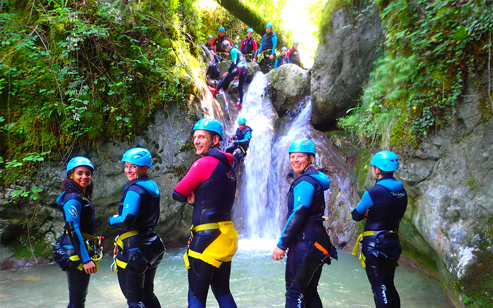 Canyoning pour Team Building